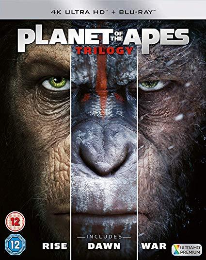 Planet of the Apes Trilogy 4K Boxset - 3 x 4K UHD (plus blu rays) £14 @ Amazon