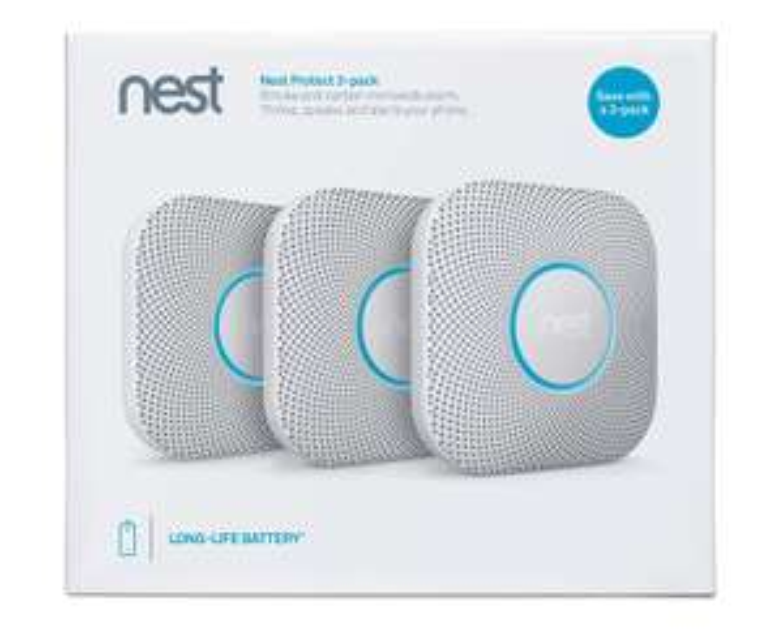 Amazon Prime deal - Nest Protect Smoke + Carbon Monoxide Alarm, (Battery), Set of 3 (2nd Generation) £224.99