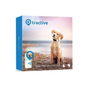 Tractive Dog GPS Tracker – Lightweight and waterproof dog tracking device with unlimited range - £29.99 at Amazon