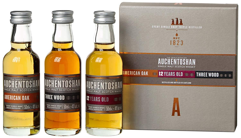 Auchentoshan Single Malt Whisky Miniature Gift Set (contains 3 x Auchentoshan 5cl miniatures) - £14.99 at Amazon Prime / £19.48 Non Prime