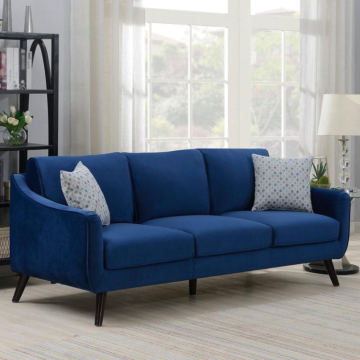 Bainbridge Blue Velvet 3 Seater Sofa £429.99 @ Costco