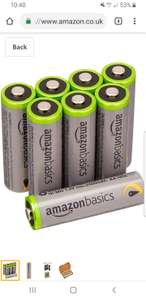 20% off Amazon Basics AA Rechargeable batteries 2500mah 8 pack £11.91  Amazon Prime day