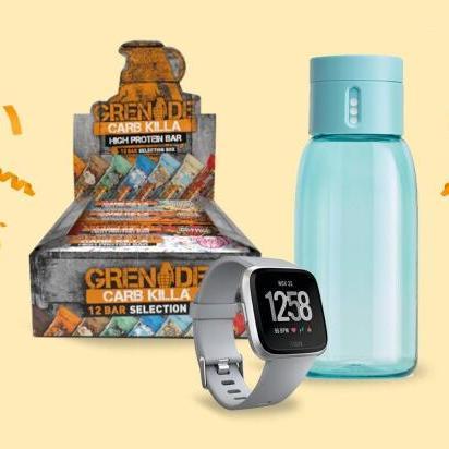 Fitbit Versa + FREE fitness bundle worth £40 (Grenade Carb Killa Selection and Joseph Joseph Water Bottle) - £139 on Amazon Treasure Truck