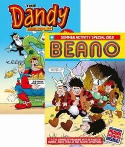 Beano & Dandy Summer Specials 2019 (2 bookazines) £10 with free delivery @ DC Thomson Shop