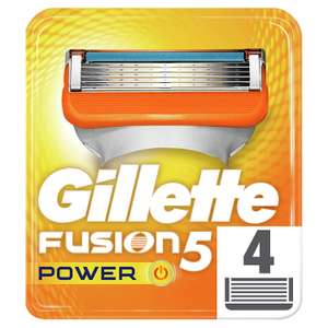 Gillette Fusion5 Power Razor Blades for Men with 5 Anti-Friction Blades - 4 Refills (Packaging May Vary) £6 @ Amazon Pantry