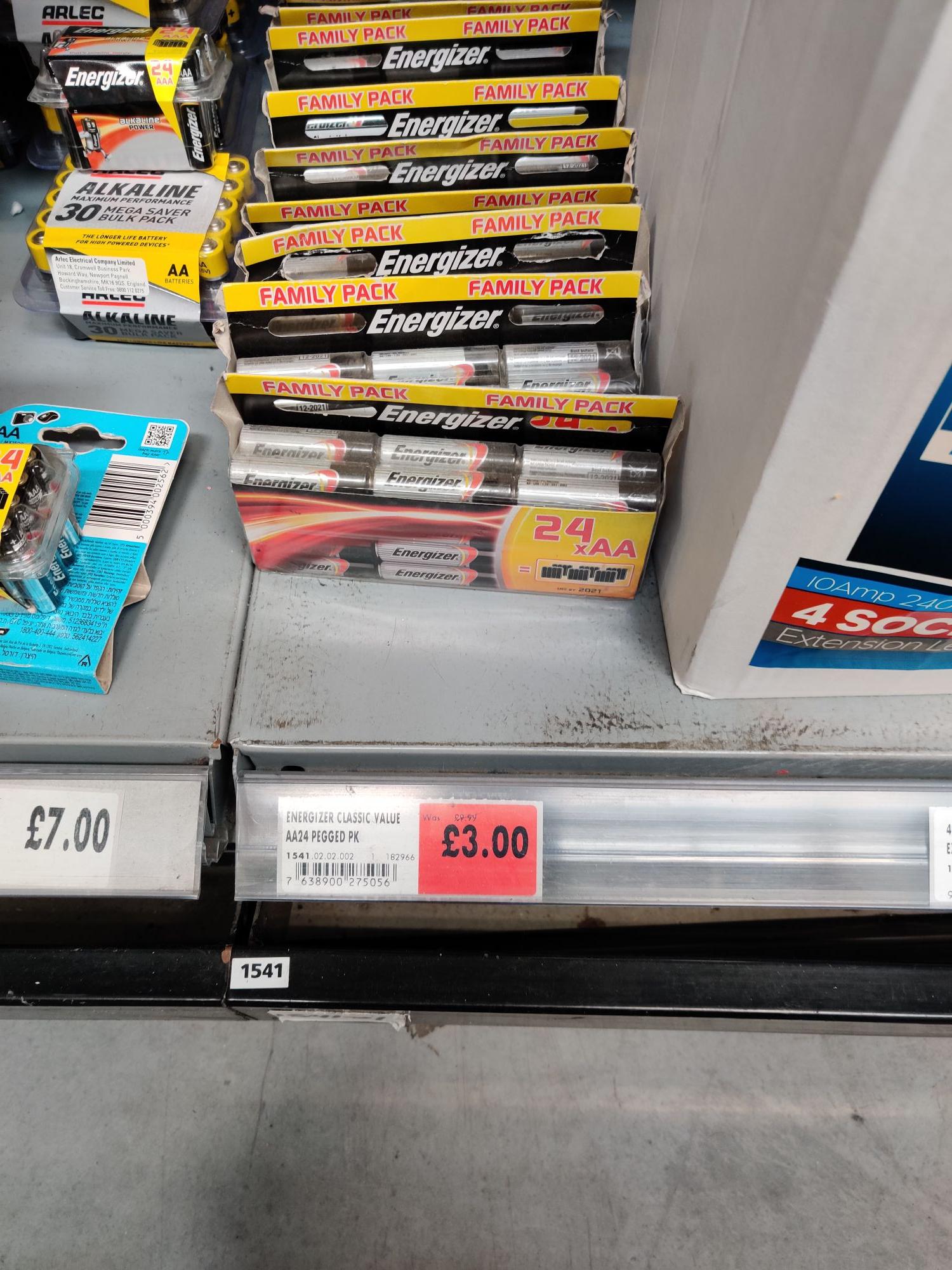 Energizer AA batteries 24 instore Homebase Newtownabbey  maybe nationwide £3