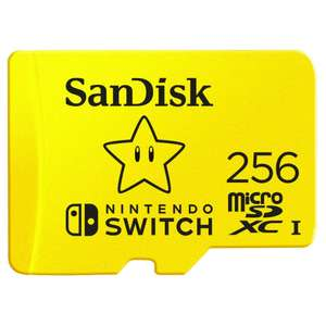 Amazon Prime Members Only* SanDisk SDSQXAO-256G-GNCZN microSDXC UHS-I Card for Nintendo Switch, 256 GB, Nintendo Licensed Product - £46.99