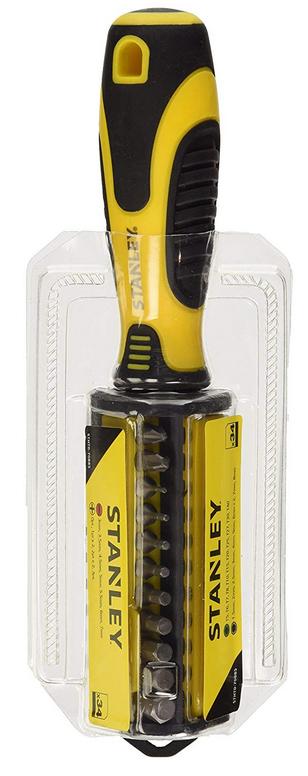 Stanley 34 Pieces STHT070885 Multibit Screwdriver Set, 22.8x 7.6x 5cm (Addon item) - £5 @ Amazon