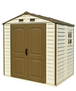 Duramax StoreAll 8' x 6' Plastic Garden Shed with Foundation Kit & Fixed Window - £349.99 at Amazon Prime Exclusive