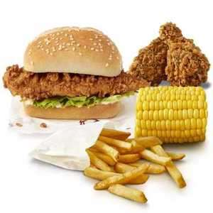 KFC Mini Fillet Burger 2 Hot Wings & Regular Fries only £1.99 Before 3pm at participating restaurants