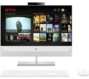 """HP Pavilion 24-xa0181na 23.8"""" AMD Ryzen 5 All-in-One PC - 1 TB HDD, White - £599 at Currys"""
