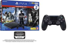 PS4 500GB + 3 PS Hits Game Bundle (or RDR2, or Fifa 19) + Additional DualShock 4 Controller - Black £219.99 @ Amazon - Prime Exclusive