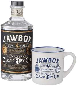 Jawbox Small Batch Classic Dry Gin Belfast Cut Gift Pack, 70 cl £19.99 @ amazon (Prime Exclusive)