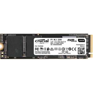 Crucial CT1000P1SSD8 P1 1 TB (3D, NAND, NVMe, PCIe, M.2, Solid State Drive) for £77.15 delivered @ Amazon Prime Exclusive