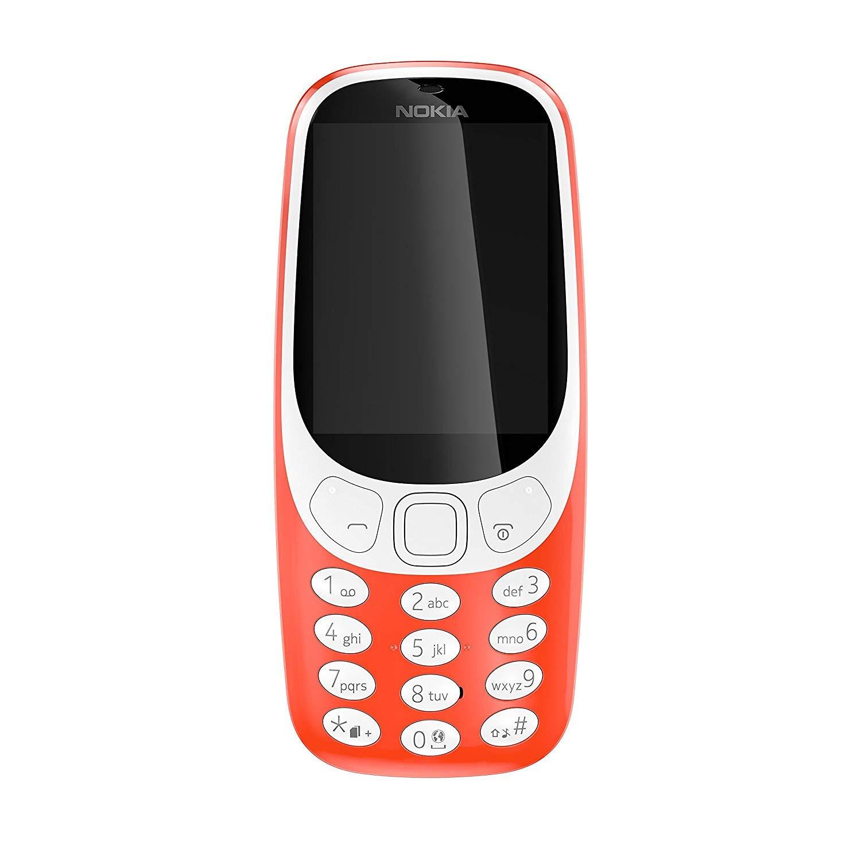Nokia 3310 UK-SIM Free Feature Phone - Matte Grey / Warm Red £24.99 @ Amazon Prime Deals
