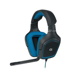 Logitech G430 Gaming Headset for PC Gaming with 7.1 Dolby Surround, Black/Blue £22.99 (Prime) @ Amazon