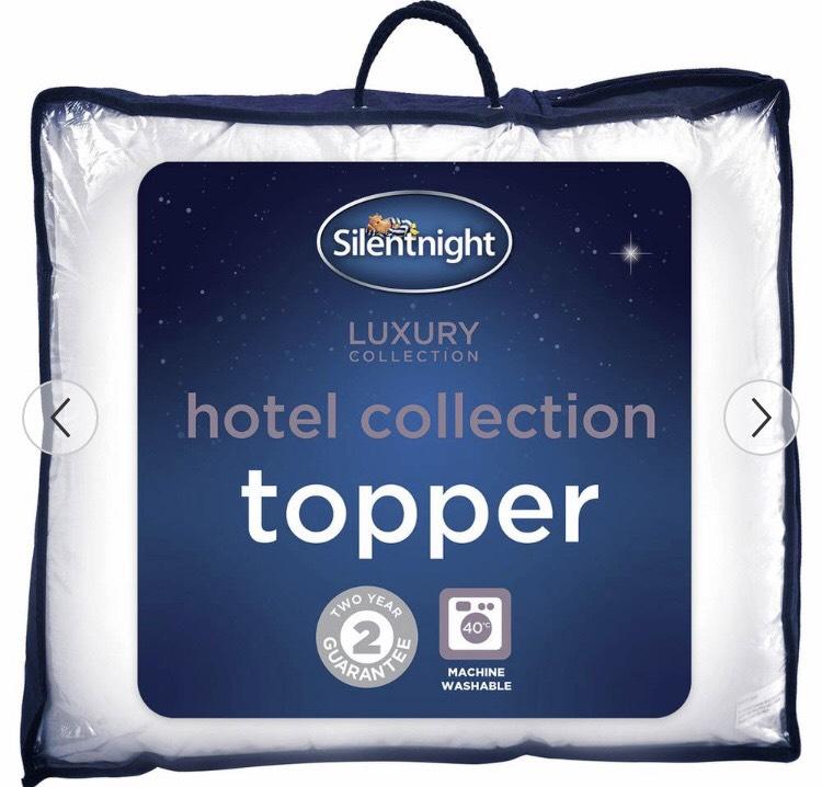 Silentnight Luxury Hotel Collection Mattress Topper 1/3 OFF all sizes  @ Argos (Free C&C)