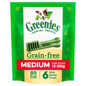 Greenies Grainfree Dental Treat Care for Medium Dogs from 12-22 kg, 6 Chews, 170 g Amazon Pantry £4 + £3.99 delivery