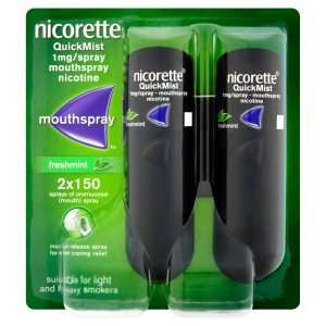 Nicorette QuickMist Mouth Spray Duo Pack, Fresh Mint £11.79 Amazon Prime Deal