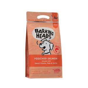 Barking Heads Dog Food Pooched Salmon 100% Natural Salmon, Good for Healthy Skin and Coat, 2 kg £5.03 delivered Amazon Pantry