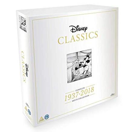 Disney Classics Complete 55 Disk Movie Blu-Ray Box Set 1937-2018 £160.15 / DVD Box Set £147.19 @ Amazon - Prime Exclusive