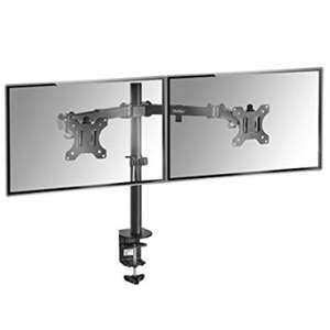 "VonHaus Dual Monitor Mount for 13-32"" Screens Double Arm Desk Stand Bracket with Clamp + 5 Year Warranty-£15.92(prime) @ sold by Domu Amazon"