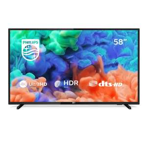 Philips 58PUS6203/12 58-Inch 4K Ultra HD Smart TV with HDR Plus and Freeview Play - Black (2018/2019 Model) at Amazon £349.99