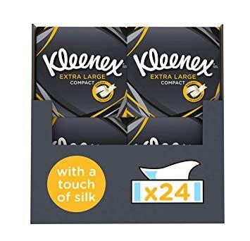 Kleenex Mansize Tissues 24pk now £14.49 delivered Amazon Prime Deal