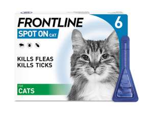 FRONTLINE Spot On Flea & Tick Treatment for Cats 6 Pipettes £13.99 Amazon Prime deal