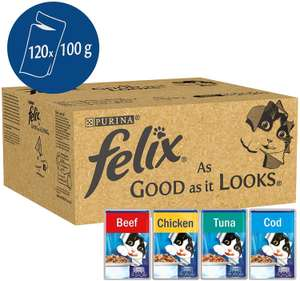 120 pouches Felix 'As Good As It Looks' £22.79 Amazon Prime deal of the day
