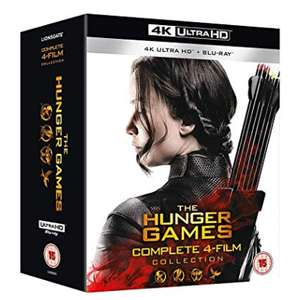 The Hunger Games Complete 1-4 4K UHD Blu Ray £38.01 Amazon prime deal