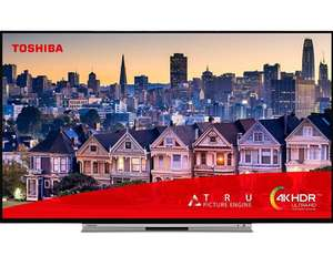Toshiba 55UL5A63DB 55-Inch Smart 4K UHD HDR LED WiFi TV with Freeview Play- Black/Silver (2019 Model) £399 @ Amazon Prime
