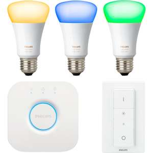 Philips Hue White and Colour Ambiance E27 Starter with 2 Free Colour bulbs - £150 @ AO.com using code