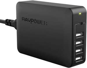 RAVPower 60W 5-Port Charging Station (45W USB-PD - Power Delivery) - £19.99 @ Amazon (Prime Only)