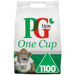 PG Tips One Cup Pyramid Tea Bags (Pack of 1, Total 1100 Tea Bags) £11.99 @ Amazon Prime