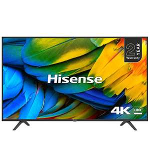 HISENSE H50B7100UK 50-Inch 4K UHD HDR Smart TV with Freeview Play (2019) [Energy Class A] - £294 @ Amazon