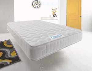 Cool Blue Memory Foam Mattress Spring - Small Single £32 / Single £39 / Double £52 / King £68 with code @ bed busters ebay