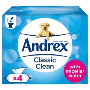 Andrex Washlets, Classic Clean Flushable Toilet Tissue Wipes, Pack of 4 £2.25 @ Amazon Pantry (+£3.99 Delivery)