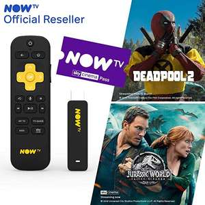 NOW TV Smart Stick with 1 Month Cinema Pass £11.59 Prime (+£4.49 non prime) @ Sold by Boss Deals & Fulfilled by Amazon