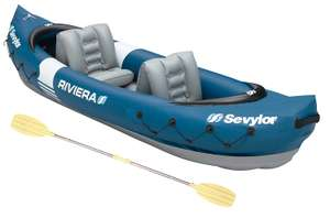 Sevylor Riviera 2-Person Canadian Inflatable Kayak with Paddle, Integrated Pressure Gauge & Repair Set @ Amazon Prime Day Exclusive - £74.99