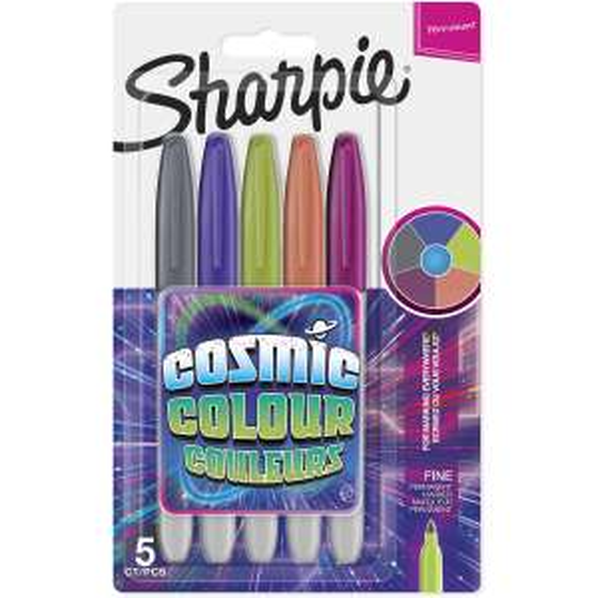 Sharpie cosmic colours 10p in Wilko