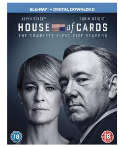 [PRIME DAY DEAL] House of Cards - Season 1-5 [Region Free] £18.62 @ Amazon.co.uk
