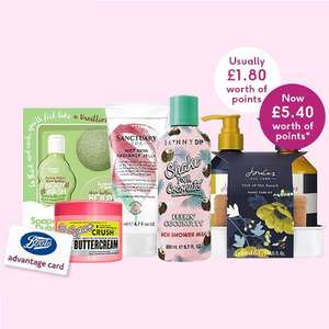 Online Today Only - Triple points on selected indulgent bathing @ Boots - Includes Soap & Glory, Champneys & more