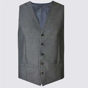 M&S Collection Grey Slim Fit Waistcoat £9 free c&c
