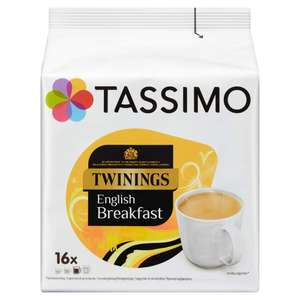 Tassimo Twinings English Breakfast Tea Pods (Pack of 5, 80 pods in total, 80 servings) Prime Day Deal - £11.99 @ Amazon