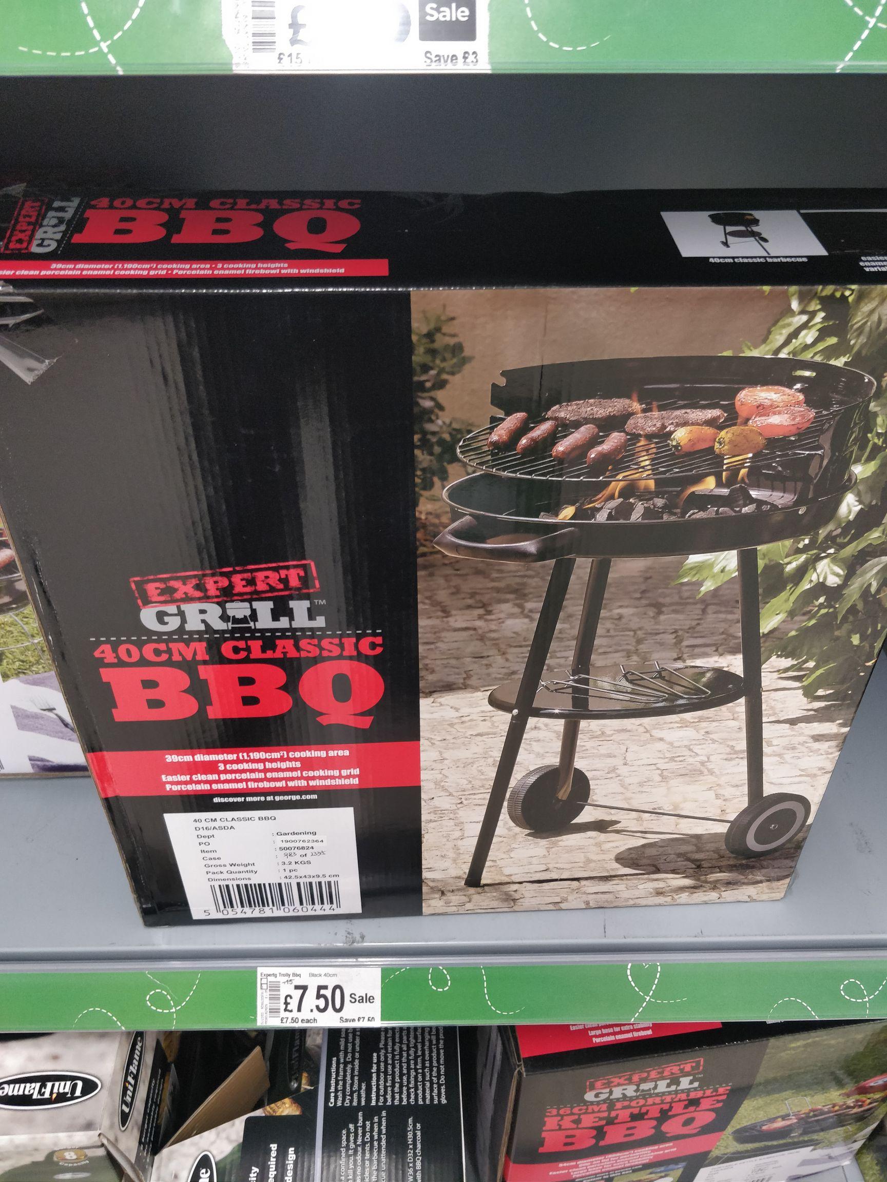 BBQ 40cm - £7.50 @ Asda instore