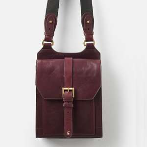 Joules Womens Stratford Leather Cross Body Bag in Oxblood (was £129) Now £39.96 delivered with code @ Joules / eBay Outlet
