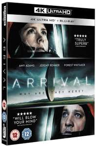 Arrival 4k UHD Bluray - Amazon Prime deals 30% off at checkout - £9.09