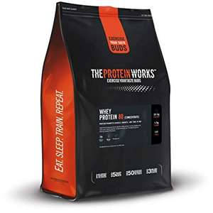 The Protein Works Whey Protein 80 (Concentrate) Shake Powder, Unflavoured, 2 kg £15.99 Amazon Prime Day Deal
