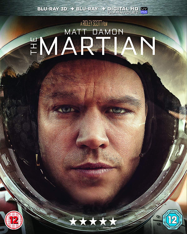 The Martian 3D + Blu Ray + Digital Code - £3.71 @ Amazon (+£2.99 non Prime)